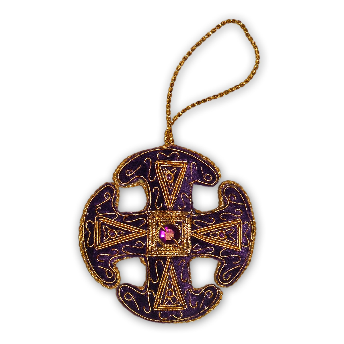 Canterbury Cathedral Purple Canterbury Cross Tree Decoration